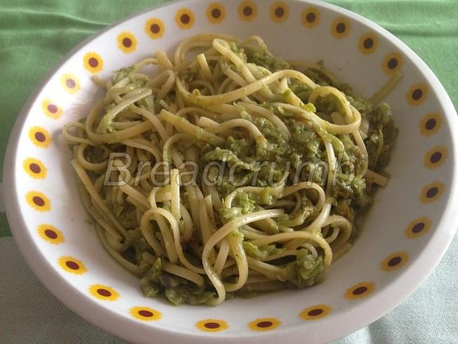 Linguine con Pesto e Zucchine 1